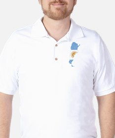 Argentina Flag And Map T-Shirt