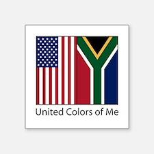 "US SA Square Sticker 3"" x 3"""