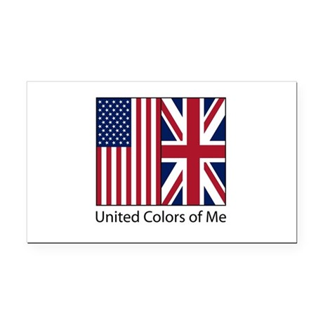 US UK Me Rectangle Car Magnet
