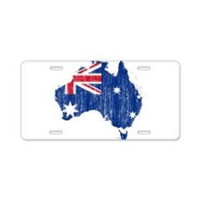 Australia Flag And Map Aluminum License Plate