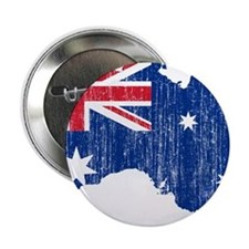 """Australia Flag And Map 2.25"""" Button"""
