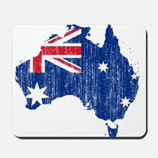 Australia Flag And Map Mousepad