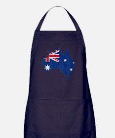 Australia Flag And Map Apron (dark)