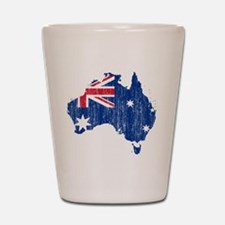 Australia Flag And Map Shot Glass