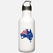 Australia Flag And Map Water Bottle