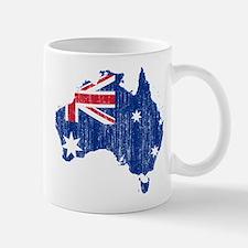 Australia Flag And Map Mug