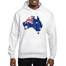 Australia Flag And Map Jumper Hoody