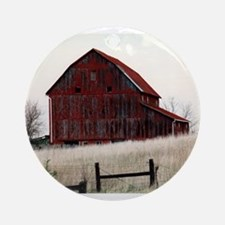 American Barns No.3 Ornament (Round)