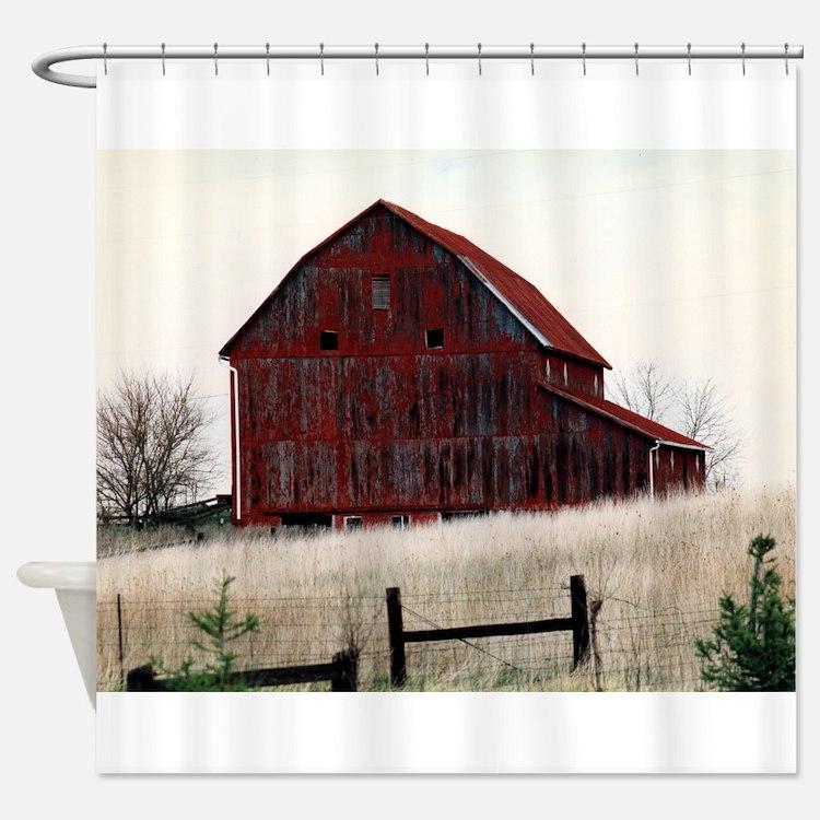 American Barns No.3 Shower Curtain