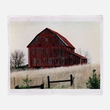 American Barns No.3 Throw Blanket