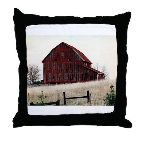 American Barns No.3 Throw Pillow