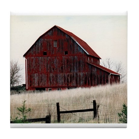 American Barns No.3 Tile Coaster