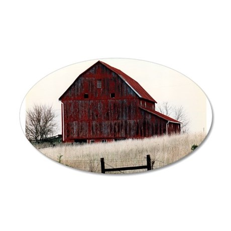 American Barns No.3 35x21 Oval Wall Decal