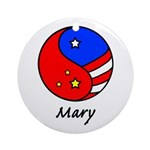 Mary Ornament (Round)