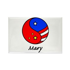 Mary Rectangle Magnet