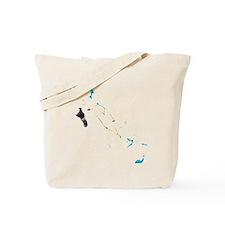 Bahamas Flag And Map Tote Bag