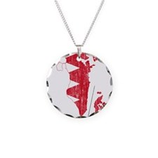 Bahrain Flag And Map Necklace