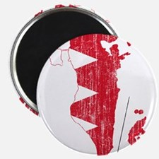 Bahrain Flag And Map Magnet