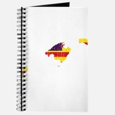 Balearic Islands Flag And Map Journal