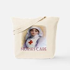 Red Cross Poster Nurses Care Tote Bag
