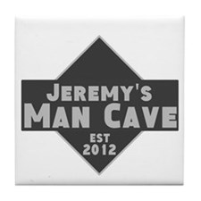 Personalized Man Cave Tile Coaster