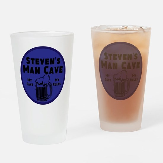 Personalized Man Cave Drinking Glass