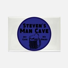 Personalized Man Cave Rectangle Magnet