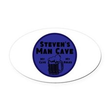 Personalized Man Cave Oval Car Magnet