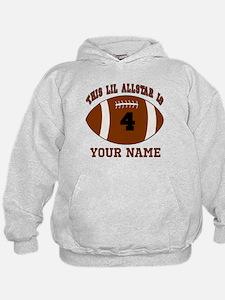 4th Birthday Football Hoodie
