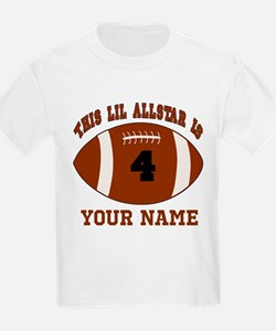 4th Birthday Football T-Shirt