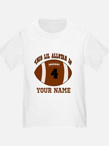 4th Birthday Football T