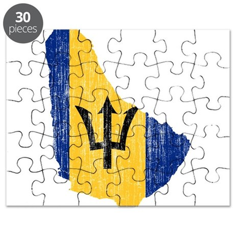 Barbados flag and map puzzle by flagsandmapsaged for Barbados flag coloring page
