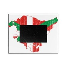 Basque Community Flag And Map Picture Frame