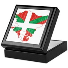 Basque Community Flag And Map Keepsake Box