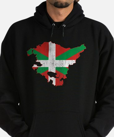 Basque Community Flag And Map Hoodie (dark)
