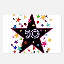 50th! Festive, Birthday, Anniversary! Postcards (P