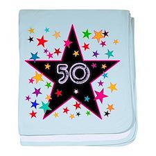 50th! Festive, Birthday, Anniversary! baby blanket