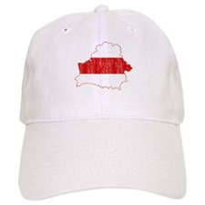 Belarus Flag And Map Baseball Cap