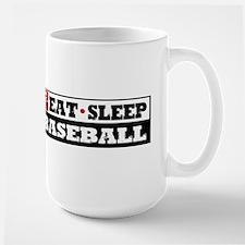Eat Sleep Baseball Large Mug