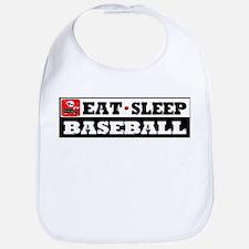 Eat Sleep Baseball Bib