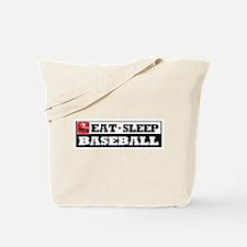 Eat Sleep Baseball Tote Bag