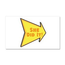Personalized She Did It Car Magnet 20 x 12