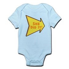 Personalized She Did It Onesie
