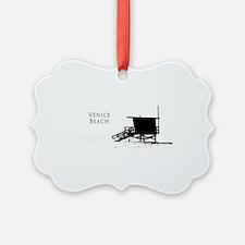 Venice Beach Silhouette Ornament
