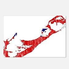 Bermuda Flag And Map Postcards (Package of 8)
