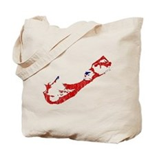 Bermuda Flag And Map Tote Bag