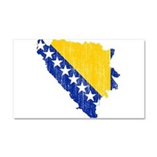 Bosnia And Herzegovina Flag And Map Car Magnet 20