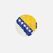 Bosnia And Herzegovina Flag And Map Mini Button