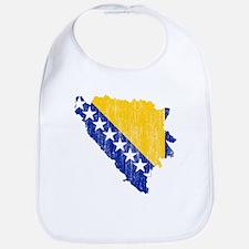 Bosnia And Herzegovina Flag And Map Bib