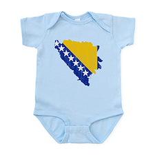 Bosnia And Herzegovina Flag And Map Infant Bodysui